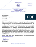 Nevada Letter to NASCO Aquatics Safety