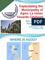 Cityhood of Agoo-Aringay