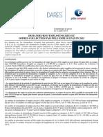 Chômage en France - communiqué de Presse de la Dares