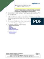Management of Mechanical Lifting
