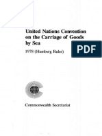 UN Convention on the Contract of Carriage by sea