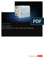 615 Series IEC 60870-5-103 Point List Manual_A