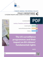 The US surveillance programmes and their impact on EU citizens' fundamental rights
