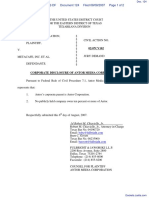 Antor Media Corporation v. Metacafe, Inc. - Document No. 124