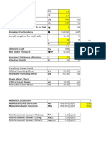 Single Column Design Footing Design