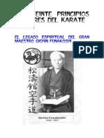 Los Veinte Principios Rectores Del Karate 1