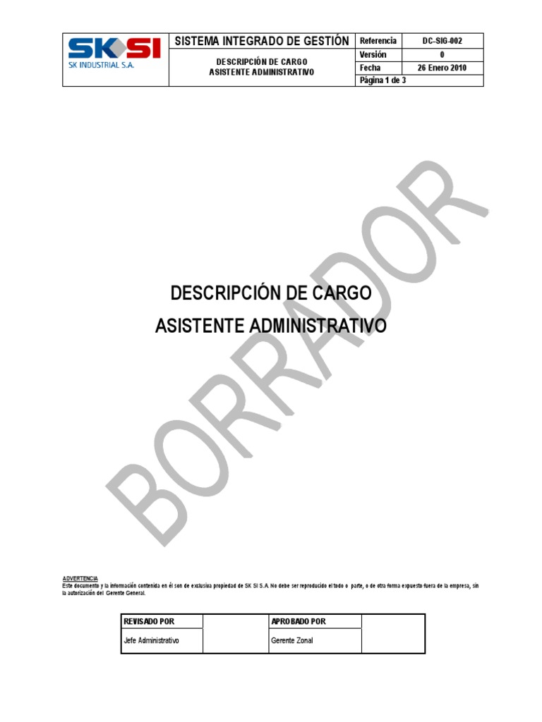 Excepcional Reanudar Jefe Administrativo Cresta - Colección De ...