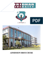 Admission Brouchure Shridhar University