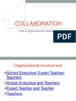 interactive collaboration level of organisational involvement