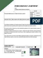 Maintenance of Alpha Lubricator System