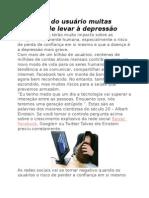 Facebook Do Usuário Muitas Vezes Pode Levar à Depressão
