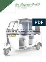 proyecto de movilización en motocarro