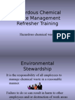 Chemical Waste Management Refresher Training