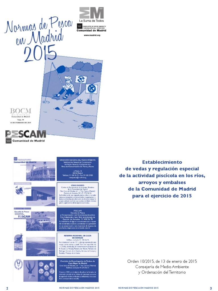 Madrid Cuadernillo Pesca 2015