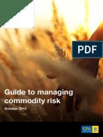 Managing Commodity Risk