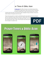 Prayer Times & Qibla, Azan