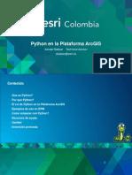 Python en La Plataforma ArcGIS