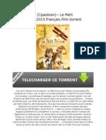 ~ [Cpasbien]~ Le Petit Prince.2015.Français.Film.torrent