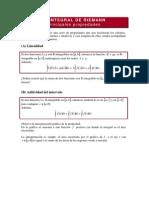Integrales dobles - Propiedades Elementales
