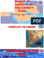 Impact of Geopolitics on Middle Eastern Trade