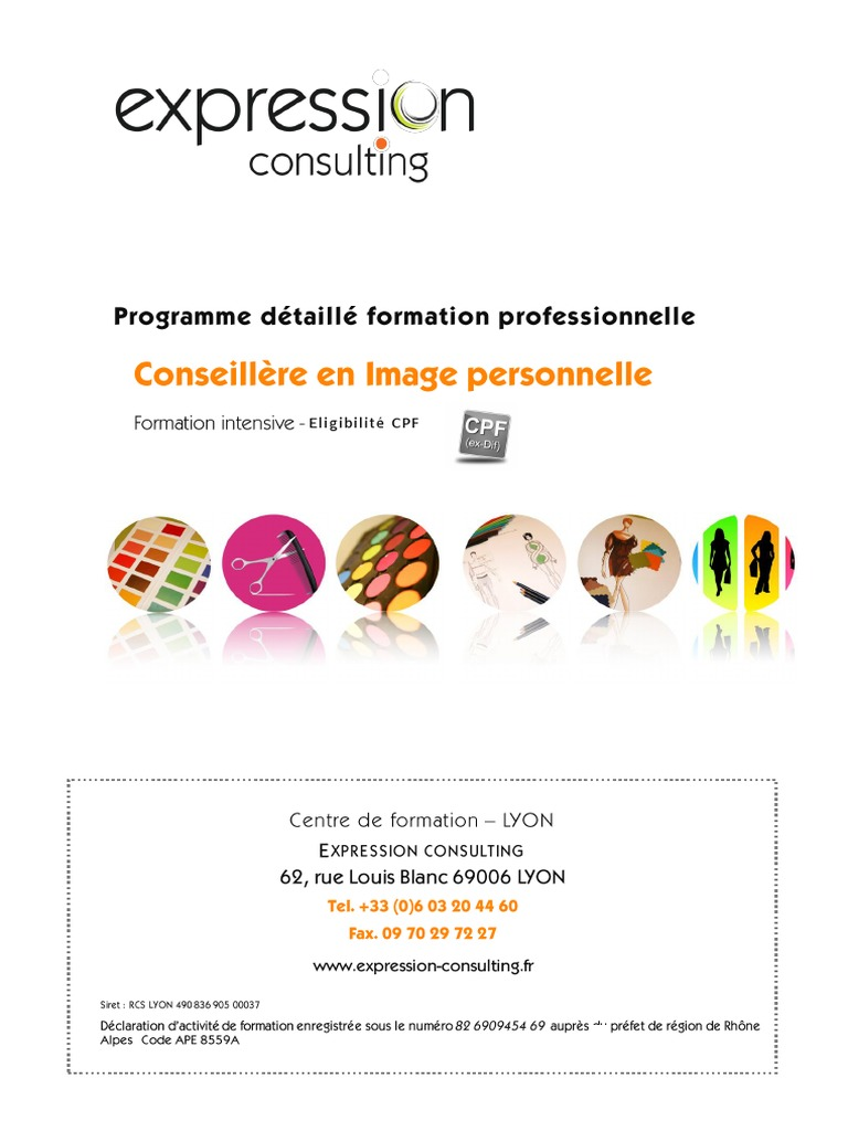 Formation Intensive Conseillère En Image 2015 Consultant