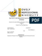 Faculty Information Manage Ment System