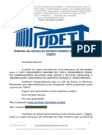 Regimento Interno Do TJDFT - Simulado I