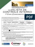 Ceperj 2013 Sefaz Rj Analista de Controle Interno 1 Etapa Prova
