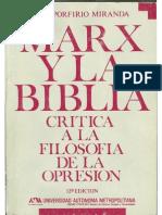 Marx y La Biblia