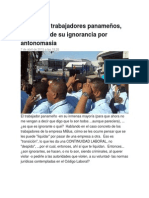 Actitud de trabajadores panameños