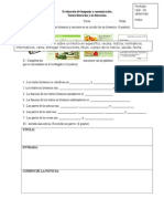 Evaluación de Lenguaje 10.04 Tipos de Textos