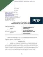 15-07-27 Corel Software v. Microsoft Patent Infringement Complaint