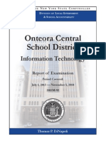 Audit of Onteora Information Technology