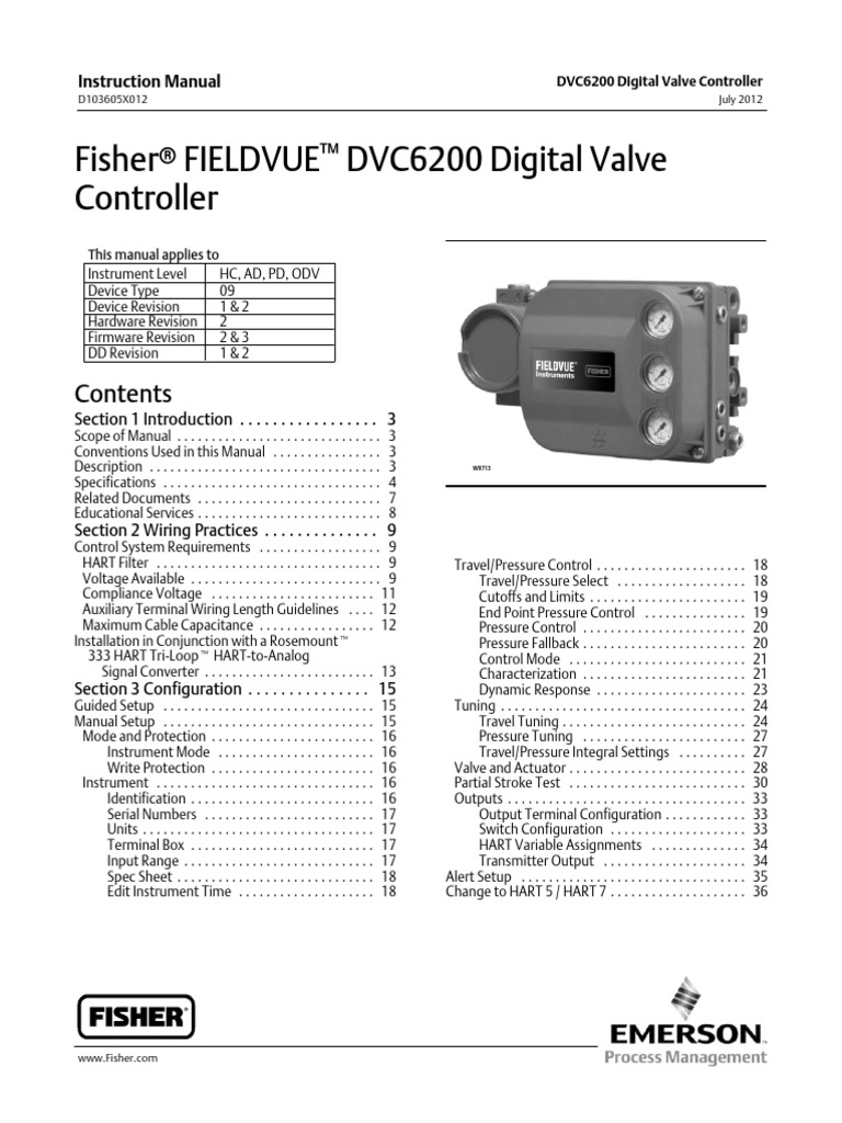 1511555384?v=1 fisher fieldvue dvc6200 digital valve controller hw2 july2012 (1 fisher dvc 2000 wiring diagram at virtualis.co