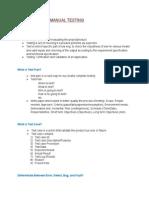 Manual Testing Basics