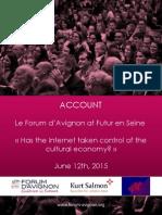 Report Forum d'Avignon at Futur en Seine 2015
