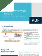 Digital Empowerment of Citizen