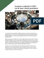 O Nouă Descoperire Realizată La CERN