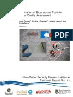 UWSRA-tr41 Water Quality Assessment - Bio