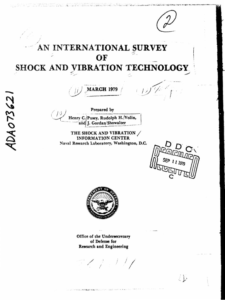 AN INTERNATIONAL SURVEY OF SHOCK AND VIBRATION TECHNOLOGY.pdf | Nonlinear  System | Calculus Of Variations