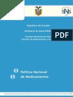 Politica de Medicamentos Ecuador