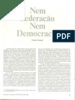 ARTIGO_FLORESTAN. Nem Federação Nem Democracia