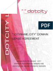 Dotcity Lp Domain Lease Draft Agreement