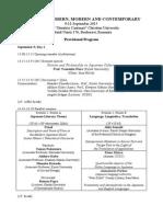 Provisional Program (Bucharest 2015)