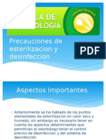 Precauciones de Esterilizacion y Desinfeccion