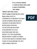 Idioms for school project