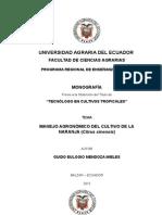 Monografia de Guido Naranja BORBOR