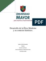 Desarrollo de La Ética Moderna y Su Contexto Histórico.