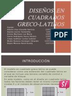 Diseños en Cuadrados Greco-latinos