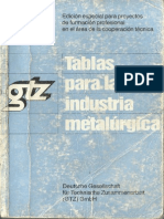 tablas para la industria metalmecanica